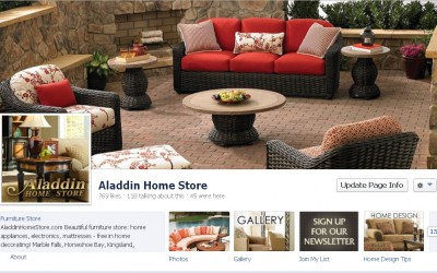 Aladdin Home Store Facebook page