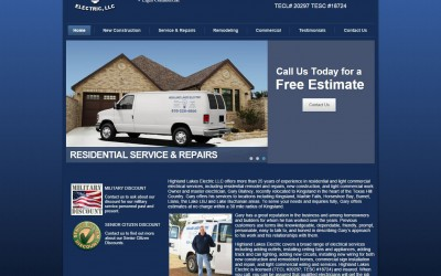 Highland Lakes Electric Website