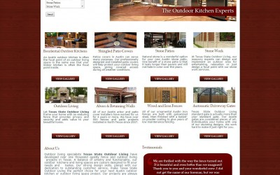 Texas State Outdoor Living Website
