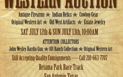 Frontier Times Western Auction Ad